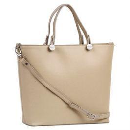 Brastini La Giulia kožená kabelka do ruky béžová