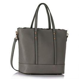 L&S Fashion LS00361 kabelka přes rameno šedá