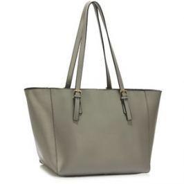 L&S Fashion LS00498 kabelka přes rameno šedá