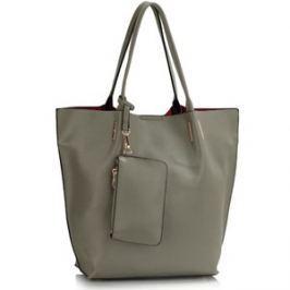 L&S Fashion LS00442 kabelka přes rameno šedá