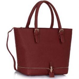 L&S Fashion LS00315 kabelka přes rameno vínová