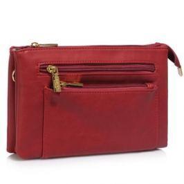 L&S Fashion LS00501 kabelka crossbody červená