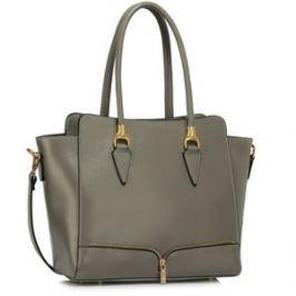 L&S Fashion LS00456 kabelka přes rameno šedá
