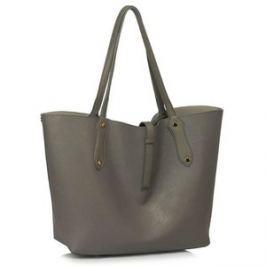 L&S Fashion LS00504 kabelka přes rameno šedá