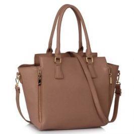 L&S Fashion LS00314A kabelka přes rameno šedohnědá