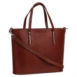 Brastini La Chiara kožená kabelka do ruky čokoládová