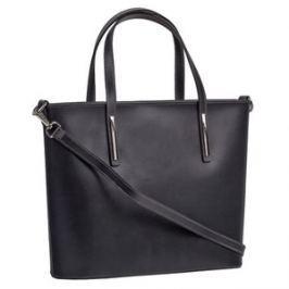 Brastini La Chiara kožená kabelka do ruky tmavě šedá