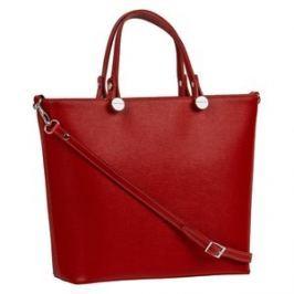 Brastini La Giulia kožená kabelka do ruky červená