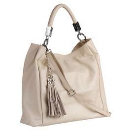 Brastini La Sara kožená kabelka přes rameno ledová krémová