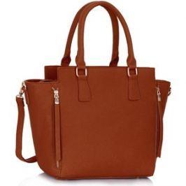 L&S Fashion LS00314 kabelka do ruky přírodní hnědá