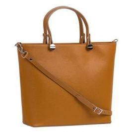 Brastini La Giulia kožená kabelka do ruky přírodní hnědá