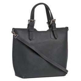 Brastini La Valentina kožená kabelka do ruky tmavě šedá