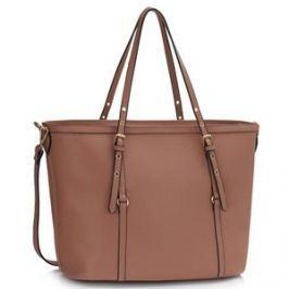 L&S Fashion LS00424 kabelka přes rameno starorůžová