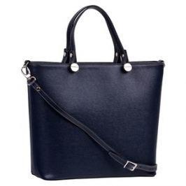 Brastini La Giulia kožená kabelka do ruky tmavě modrá