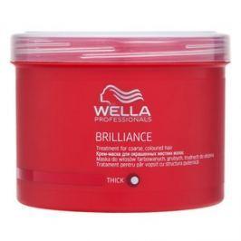 Wella Professionals Brilliance Treatment maska pro hrubé a barvené vlasy 500 ml
