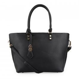 Bessie London Dámská shopper kabelka 2v1 BH3198 - černá