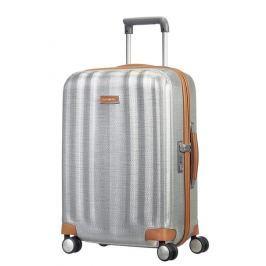 Samsonite Kabinový cestovní kufr Lite-Cube DLX Spinner 82V 43,5 l - stříbrná