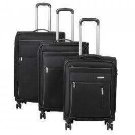 Travelite Travelite Capri 4w S,M,L Black – sada 3 kufrů + BB