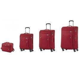 Travelite Travelite Capri 4w S,M,L Red – sada 3 kufrů + BB