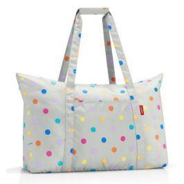 Skládací taška Reisenthel Mini Maxi Travelbag Stonegrey dots