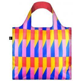 Skládací nákupní taška LOQI GEOMETRIC Stripes