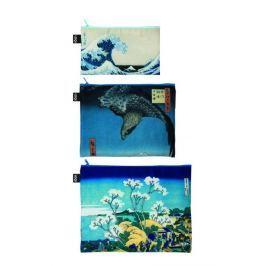 Cestovní taštičky na zip LOQI HOKUSAI Zip Pockets, 3 ks