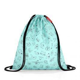 Pytlík na záda Reisenthel Mysac kids Cats and dogs mint