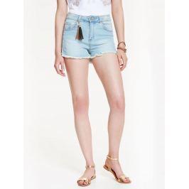 Top Secret šortky dámské světle modré jeans s vyšším pasem