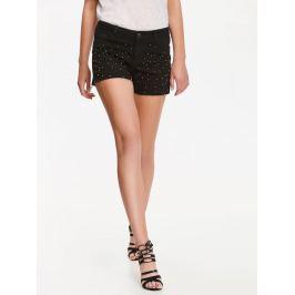 Top Secret šortky dámské černé s kamínky jeans
