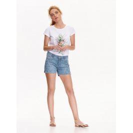 Top Secret šortky dámské modré s kamínky jeans