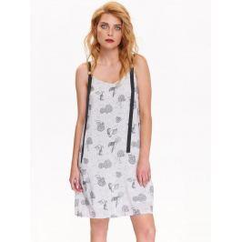 Top Secret šaty dámské bílé vzorované bez rukávu