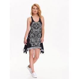 Top Secret šaty dámské černé s bílým potiskem bez rukávu