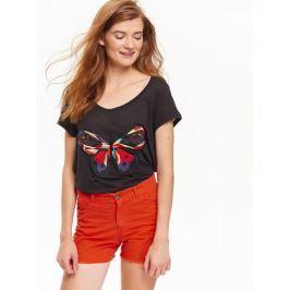 Top Secret šortky dámské jeans s roztřepeným lemem