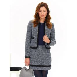 Top Secret Sako dámské šedé s kapsama a dlouhým rukávem
