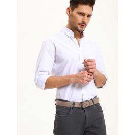 Top Secret Košile pánská bílá s dlouhým rukávem poslední kus
