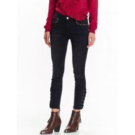 Top Secret Kalhoty dámské černé se šněrováním
