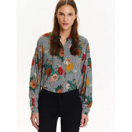 Top Secret Košile dámská s barevnými květy a dlouhým rukávem