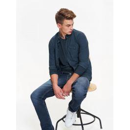 Top Secret Košile pánská jednobarevná s dlouhým rukávem