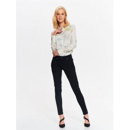 Top Secret Košile dámská béžová se vzorem a dlouhým rukávem