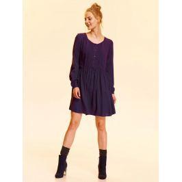 Top Secret šaty dámské tmavě modré s dlouhým rukávem poslední kus