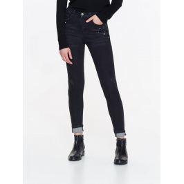 Top Secret Jeansy dámské černé zdobené