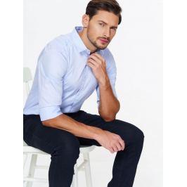 Top Secret Košile pánská bledě modrá s dlouhým rukávem