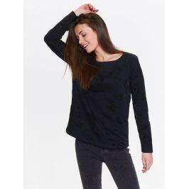 Top Secret Mikina dámská černá s 3D vzorem a dlouhým rukávem