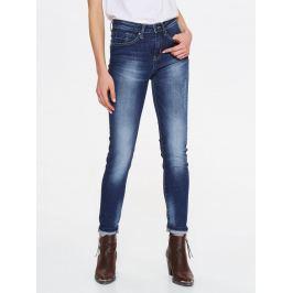 Top Secret Jeansy dámské tmavě modré seprané