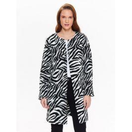 Top Secret Kabát dámský se vzorem zebry