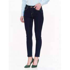 Top Secret Jeansy dámské tmavě modré s výrazným šitím