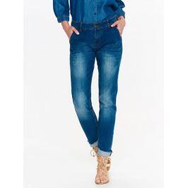 Top Secret Jeansy dámské tmavě modré STRAIGHT