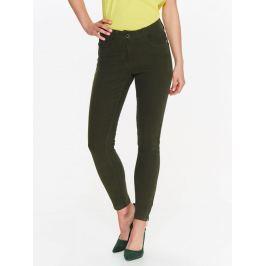 Top Secret Kalhoty dámské zelené SKINNY se zipy na nohavici