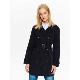 Top Secret Kabát dámský černý s dvouřadovými knoflíky a páskem