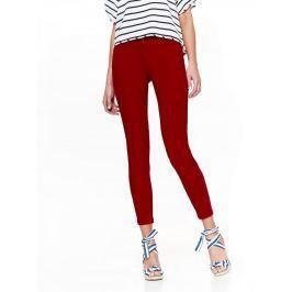 Top Secret Kalhoty dámské červené SKINNY